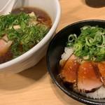 麺屋M - 料理写真:鴨そばと鴨丼