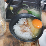 ろばたやき山ろく - 卵ご飯