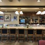 誠寿司 - カウンター席