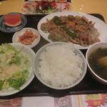 大衆酒場 酔仙 - レンコンと豚肉炒め定食850円