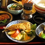 味工房 おお木 - イワシ定食 1200円