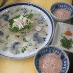 紀八寿司 - カワハギお造り