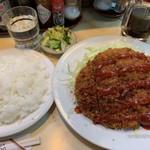 103423215 - メンチカツ+ご飯、味噌汁 770円+380円