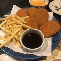 全席個室居酒屋 竹取の庭~遊庵~-お肉屋さんコロッケとチーズポテトフライ