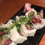 五反田 あぶみ邸 - 馬肉味噌巻き寿司