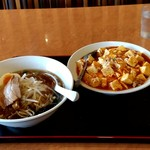 台湾料理 福祥居 - 【2019.3.10(日)】ラーメンセット(醤油ラーメン+麻婆丼)700円