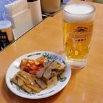 中華一番 - 生ビールと3種盛り‼️