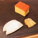 鮨 土方 - 料理写真:漬け物、玉