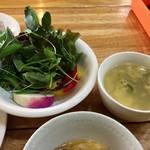 Yuukiyasaitosousakuryourinanairo - サラダとスープ