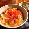 そったくどうじ - 料理写真:トマトチーズカレーうどん&刺身丼小