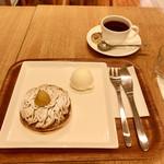 菜の花 ムーンカフェ - 料理写真:どらやきモンブラン&コーヒー