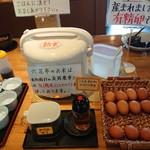 六花亭  - 皆さんとりあえず卵かけご飯(笑)