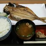 海の幸と山の幸 するが食堂 - 料理写真:あじひもの定食(1100円)