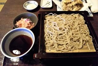 蕎麦処 多賀 - 辛味大根蕎麦(2枚重ね)1600円。