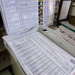 タマちゃん - ウェイティングリスト、注文票、メニュー、食べログベストレストラン2009の賞状