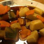 さの寿司 - おばんざい 海老芋 南瓜 紅葉人参炊き合わせ