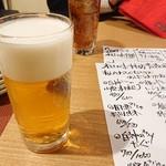酔処 みね - 先ずはビール。