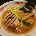 103455319 - 「龍の髭・醤油ラーメン」(海老油750円)
