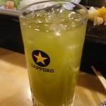 魚がし寿司 - 緑茶割り 400円