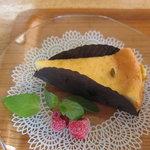 マンガッタンカフェ えき - かぼちゃのチーズケーキとフローズンラズベリー?