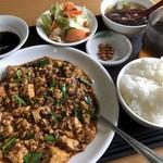台湾家庭料理 園 - ♪四川麻婆豆腐定食¥690