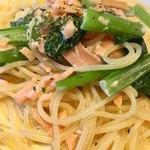 トラットリア イルソーレ - スモークサーモンと野菜のクリームパスタ