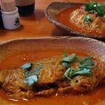 ハイダル - 本日の魚カレー。2皿にわかれて出てきました。