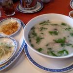 ホテルオークラ レストラン横浜 中国料理 桃源 - お粥セット