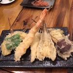 わばる - 串天ぷら盛り合わせ700円+