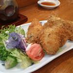 まつや活魚料理 - 牡蠣フライ
