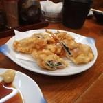 まつや活魚料理 - 豚肉シソ巻き天ぷら