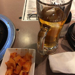 焼肉吾妻 - カクテキ(お通しじゃありません)