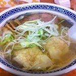 らーめん ひらき家 - 塩海老ワンタン麺