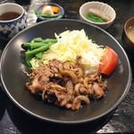 定食あさひ - 北海道放牧豚のしょうが焼き定食(900円)