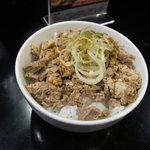 肉煮干し中華そば さいころ - 豚どん250円