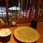 円山町わだつみ - 蕎麦(冷)と海老天ばらミニ丼セット 1290円