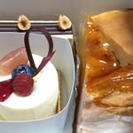 カラフル・ペア - ツレの手土産(*^^*) しつこくない甘さが私の好みにマッチ!! 久しぶりに、もう一度食べたいケーキ屋さんに出会いました