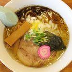 中華そば 札幌煮干センター - ゆず塩鰹そばのアップ