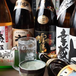 宮崎県産の焼酎をご提供◎種類豊富なドリンクをお楽しみください