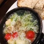 ピッツェリア チーロ - しらすと青海苔のアヒージョ