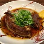 炭火串焼き 隠家 - 猪バラ肉の柔らか煮