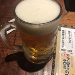 Hey! 周平 - ドリンク写真:生ビール(550円税別)