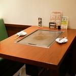 ねぎ焼やまもと - ☆テーブルはこんな感じです(*^_^*)☆