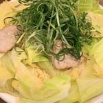 広島風冷しつけ麺・楽 - 麺大盛 キャベツ大盛