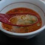 なか卯 - 坦々うどんのスープ