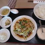 103560378 - 五目野菜の醤油炒め定食