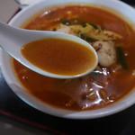地球飯店 - 辛味ちゃんぽんのスープ