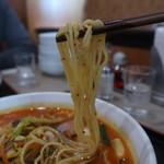 地球飯店 - 辛味ちゃんぽんの麺