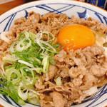 丸亀製麺 - 牛すき釜玉