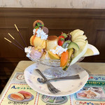喫茶ツヅキ - プリンパフェ(900円)